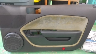 Ford Mustang door panel before