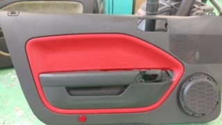 Ford Mustang door panel after